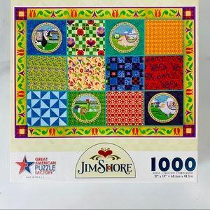 Jim Shore Primitive Quilt Americana Puzzle 1000 pc